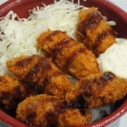 旭川・はま寿司で、580円のカキフライ丼。ドライブスルーで気軽に楽しめるね。