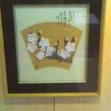 『カフェ・クロ豆さんで「黒田檀さんの折り紙展」が開催されています』の画像