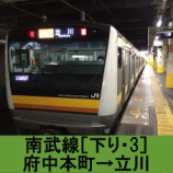 『南武線 車窓[下り・3]府中本町→立川』の画像
