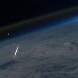 ペルセウス座流星群2011の流星、ISSから撮影