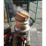 『餅米を蒸す』の画像