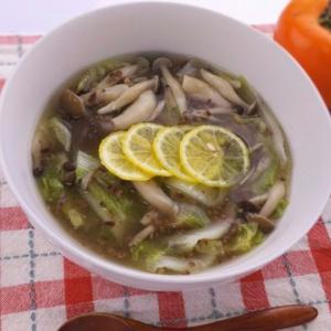 とろみで体が温まる♪ひき肉と白菜のあんかけスープ