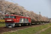 『2020/4/15運転 EH500-77牽引日鉄チキ貨物』の画像