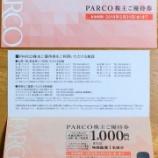『パルコの株主優待券が届きました』の画像