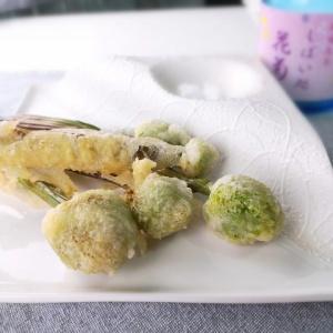 不思議な食感♪ねぎ坊主の天ぷら