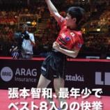 『2017世界卓球ドイツ大会 結果』の画像