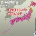 北海道旭川市江丹別で観測史上1位となる38.4℃を記録wwwwwwww