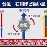 『台風21号スピードが速く進路の右側が危険』の画像