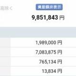 『【運用状況】2019年10月末の資産合計は985万円(30万円増加)だったよ!』の画像