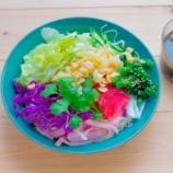 『米油でドレッシング!野菜いっぱいのソーメンサラダランチ』の画像