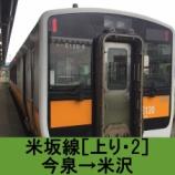 『米坂線 車窓[上り・2]今泉→米沢』の画像