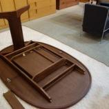 『日進木工のNatural Brownシリーズの伸長テーブル・NCT-438 ・ブラックウォールナットが入荷』の画像