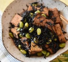 【レシピ・副菜・作り置き・動画】地味なおかずほどご飯が進む!厚揚げ豆腐とひじきの煮物