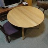 『【北欧テイスト・日進木工の家具2012】WHITE WOODシリーズのラウンドテーブル・WOT685・H650』の画像