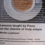 『【読書・本】「フィンランド人が教えるほんとうのシンプル」』の画像