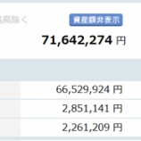『【運用状況】2019年7月末の資産評価額は7160万円でした!』の画像