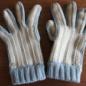 №164-4 2012年末のシマシマかぎ編み手袋 ナチュラル