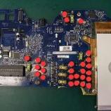 『imac G5のロジックボードのコンデンサ交換手術』の画像