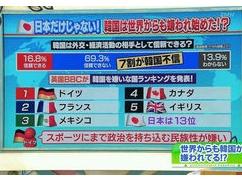 テレビ番組「世界中で嫌われる韓国」が世界中に拡散され韓国大混乱中wwwwwww