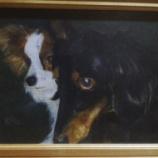 『院長のお絵かき2 黒い犬と白い犬の絵』の画像