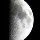 『名峰赤城山で撮影した上弦の月 ☆彡』の画像