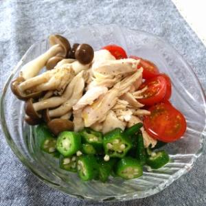 鶏ムネ肉と野菜のさっぱりサラダ
