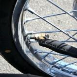 『タイヤに空気を入れる』の画像