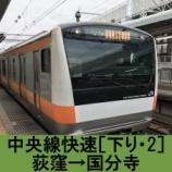 『中央線快速 車窓[下り・2]荻窪→国分寺』の画像