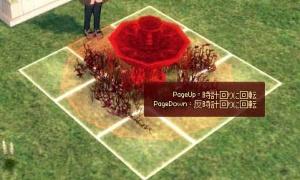 花飾りの噴水台…花…?