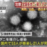 """『21人が死亡…日本全国に広がる""""殺人ダニ""""に注意』の画像"""