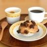いちじくマフィンとハチミツ金柑の朝ごぱん