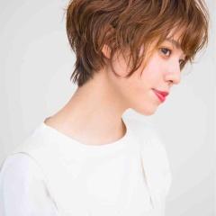 表参道でパーマ 神宮前 東京都内で美髪パーマが得意な美容室ミンクス原宿 須永健次 前下がりショートに良い感じのパーマを 大人女性のパーマは程よくかけるのがポイントです☆
