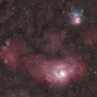 『沈みゆくいて座の干潟星雲&三裂星雲 ☆彡』の画像