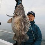 『4月 9日 釣果 スロージギング 詳細 クロソイ29匹 アタリ沢山!!』の画像