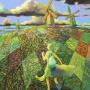 『駆け出す緑の丘』
