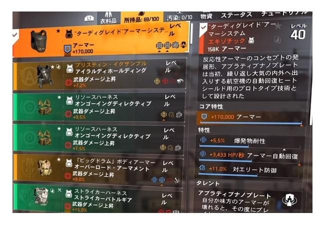 【ディビジョン2】新エキゾ『ターティグレイドアーマーシステム』が結構強そう!!