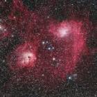 『ぎょしゃ座のまがたま星雲付近の散光星雲(IC405&IC410)』の画像