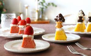 無印のお菓子を活用したプチケーキ