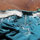 『ベリーダンス衣装 ゴムのウエストを縮めてフィット感アップさせる方法』の画像