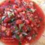 旬のトマトでトマトサルサ