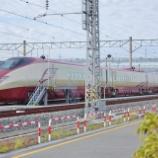 『熊本で留置されているFGT(フリーゲージトレイン)』の画像