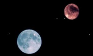 皆既月食を生で観測しました