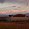 剣岳と夕陽