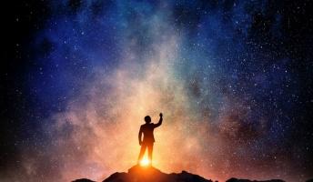 ( ^ω^)星を見る人のようです
