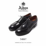 『入荷   Alden (オールデン) 54007 MOC TOE CALF BLACK』の画像