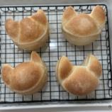『改造したセルクルの猫パン型でパンを焼いてみました!』の画像