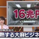 """『【衝撃】「大麻=悪」は日本だけだった!!世界の""""大麻経済""""はここまできていることが判明 →』の画像"""