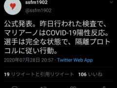 レアルFWがコロナ陽性反応!! CLは不戦敗!?