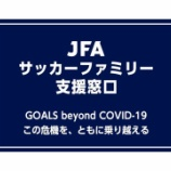 『[JFA] 資金難に苦しむ全国のサッカー・フットサル・ビーチサッカークラブを対象とする 新型コロナ支援窓口を開設!!』の画像