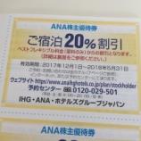 『ANAの株主優待におまけで付いてくる宿泊割引券。ヤフオクで100円以下で売ってる割には結構使えます。』の画像